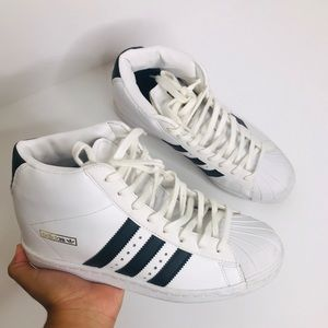 Adidas Classic Superstar High Top Wedge Sneakers
